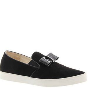 All Black brand Tux Bow Sneakers 38 7.5